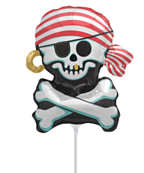 Mini Folieballon Jolly Roger Skull
