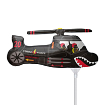 Mini Folieballon Black Chopper