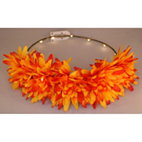 LED Bloemenkroon glow chrysant oranje