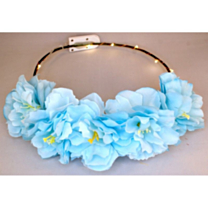 LED Bloemenkroon glow pioen blauw