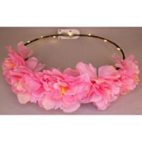 LED Bloemenkroon glow pioen roze