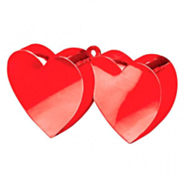 Balloon Weight Red Hearts