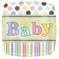 Folieballon Baby dots&stripes