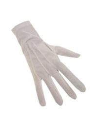 Handschoenen katoen kort wit (sint)
