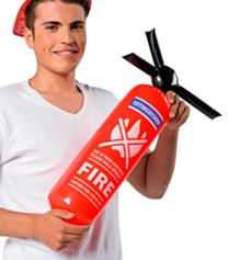 Opblaas Brandweer spuit 60cm