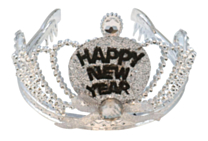 Tiara Happy New Year met verlichting