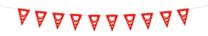 Vlaggenlijn Trouwen Deluxe Rood 4mtr