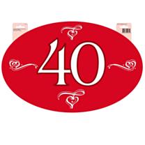 Huldeschild 40 Jubileum Robijn