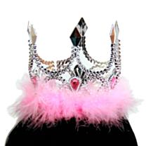 Kroon Zilver mini princess Roze