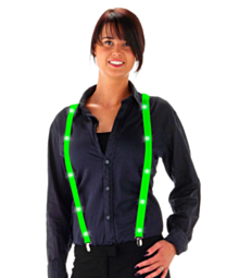 LED Suspenders Neon Green