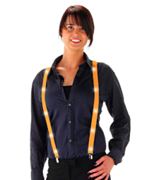 LED Suspenders Neon Orange