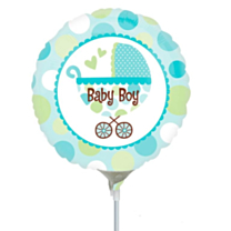 Mini Folieballon Baby Boy Buggy