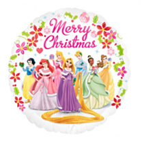 Folieballon Merry Christmas Princess