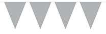 Vlaggenlijn Effen  Zilver 10mtr