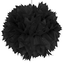 Pompom Zwart 30cm