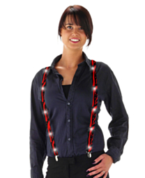 LED Suspenders Blood