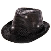 Tribly Hoed Paillet Zwart met LED