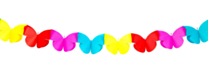 Mini Slinger Papier Vlinder 2mtr