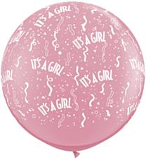 Ballon 90cm Pink It'S Meisje