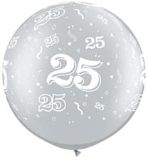 Ballon 90cm 25 jaar Silver