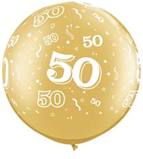 Ballon 90cm 50 jaar Gold