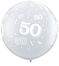 Ballon 90cm 50 jaar Diamond Clear
