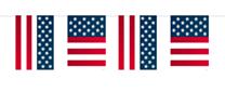 Vlaggenlijn USA Party 10 meter
