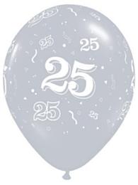 Ballon 25 jaar Silver