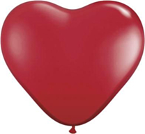 Ballon Heart Ruby Red 100st