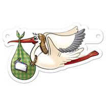Banner Letter Stork
