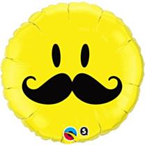Folieballon Smile Face Snor