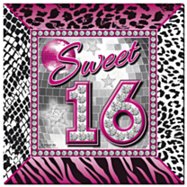 Servetten Sweet 16 25x25cm