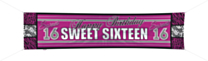 Spandoek 180x40cm Sweet 16