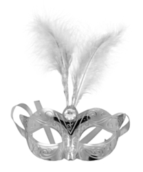 Masker Metallic Zilver