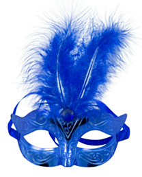 Masker Metallic Blauw