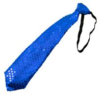 Stropdas met LED Metallic Blauw