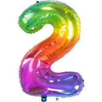 Folieballon Yummy Gummy Rainbow Cijfer 2