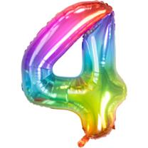 Folieballon Yummy Gummy Rainbow Cijfer 4
