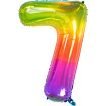 Folieballon Yummy Gummy Rainbow Cijfer 7