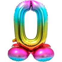 Folieballon met standaard cijfer 0