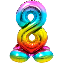 Folieballon met standaard cijfer 8