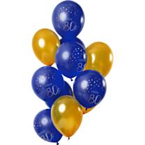 Ballonnen Elegant True Blue 80 Jaar