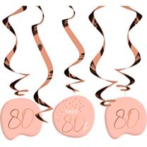 Hangdecoratie Elegant Lush Blush 80 Jaar