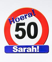 Huldeschild - 50 jaar Sarah