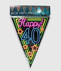Neon vlaggenlijn - 40 jaar