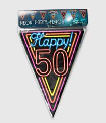Neon vlaggenlijn - 50 jaar