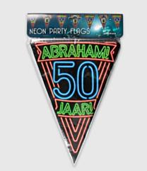 Neon vlaggenlijn - Abraham