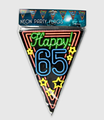 Neon vlaggenlijn - 65 jaar
