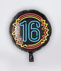 Neon Folieballon 16 jaar