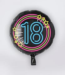 Neon Folieballon 18 jaar